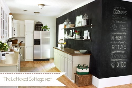 Whitepointeshoes for Chalkboard paint kitchen ideas